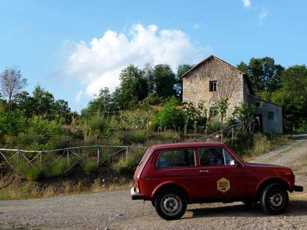 Lada Niva in the Mountains of Italy