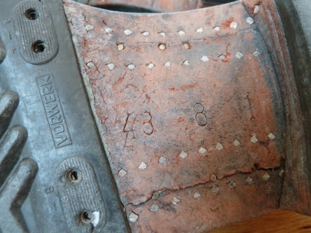 baltes boots / stiefel sole with wooden nails