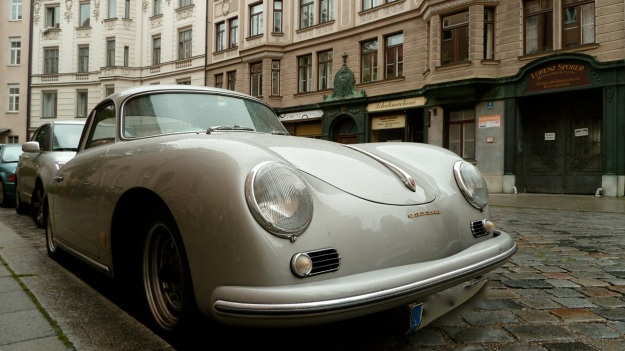 Porsche 356 - 1600 super in silver view from the front