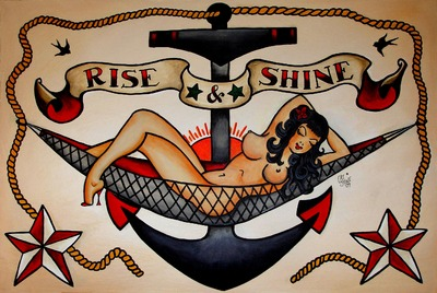 Sailor Jerry Rise Shine Tattoo