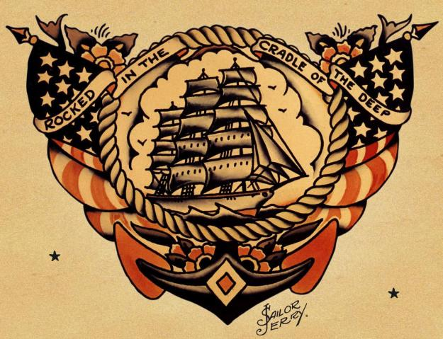 Sailor Jerry Sailboat Tattoo