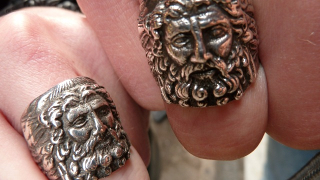 Zeus rings in silver from the Armenian Silversmith at the Grand Bazaar in Istanbul