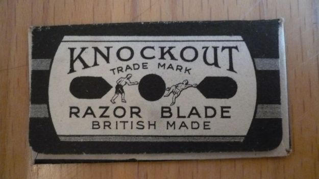 Knockout Razor Blade back view