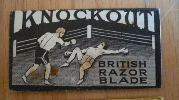 Knockout Razor Blade front view
