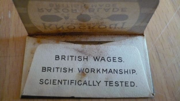 Knockout Razor Blade, british wages, british craftmanshift