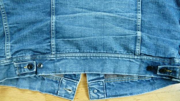 Lee Storm Rider denim jacket - backside bottom view