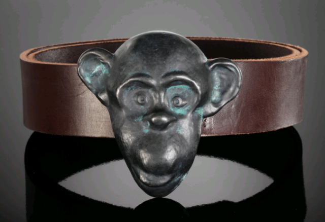 monkey belt buckle