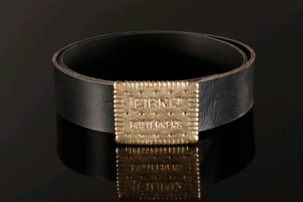 feinschmuck belt buckle, gürtelschnalle - leibniz butterkeks