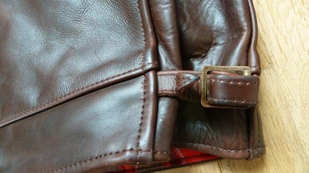 Aero Leather Highwayman Heavy Front Quarter Horsehide brown adjustment buckle