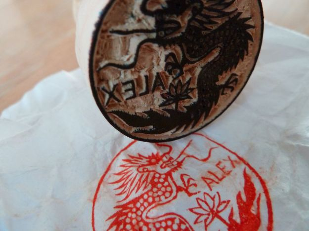 wooden stamp from a stamp carver in hanoi