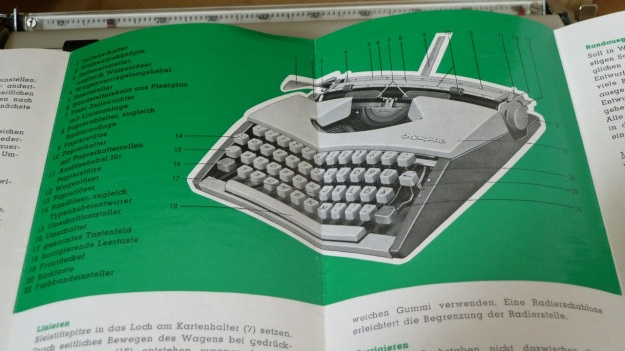 olympia de luxe travel typewriter instruction manual