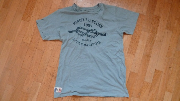 fatboy clothing ecole maritime t-shirt marine francaise grey total view