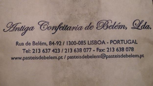 Pastéis de Belém - lisbon, lissabon, lisboa adress