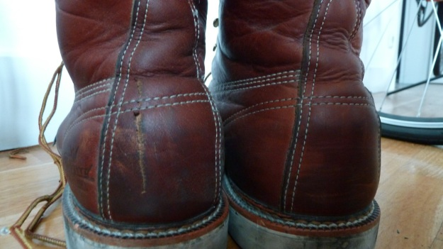 thorogood moc toe boots 3 month rapid vintaged - the heels