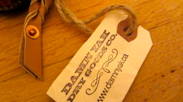 damnyak dry goods handmade in canada ontario pouch