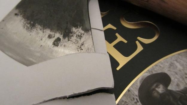 Gränsfors Bruks Wildlife Hatchet cuts easily through paper