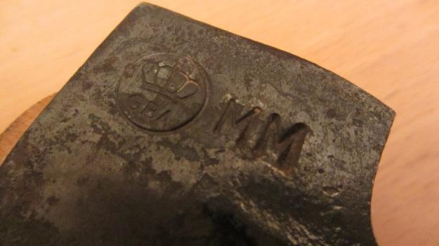Gränsfors Bruks Wildlife Hatchet blacksmith signature MM