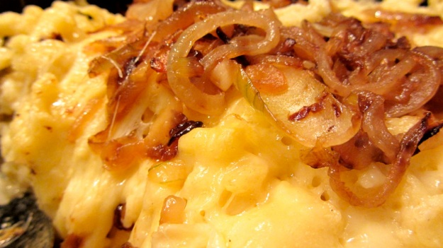 Käs Spätzle or cheese noodles with onions