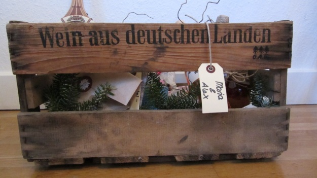 wein aus deutschen landen box full of x-mas presents for maria & alex