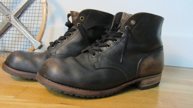 german post WWII vintage boots from baltes full view from the side