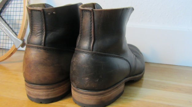 german post WWII vintage boots from baltes back view