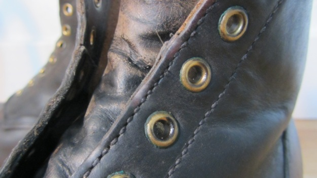 german post WWII vintage boots from baltes lace holes