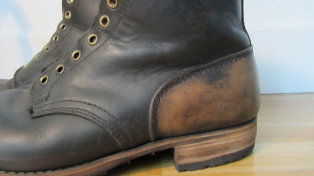 german post WWII vintage boots from baltes the discoloured heel