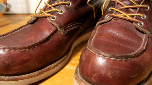 Red Wing boots 8138 moc toe brown used 6 inch Irish setter