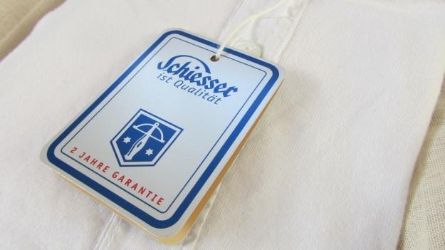 schiesser revival karl heinz white longsleeve logo leaflet