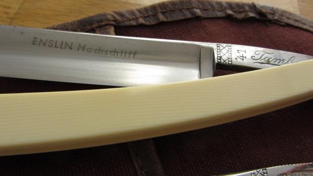 straight razor blade collection bismarck, solingen, kober, buntenbach the tambour