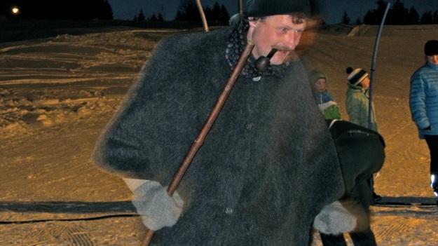 vintage ski race fischen allgaeu 2012 man with pipe