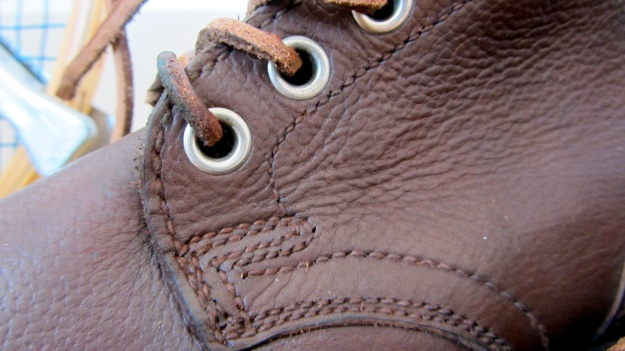 vintage swedish boots from 1946 brown detail shoe laces holes