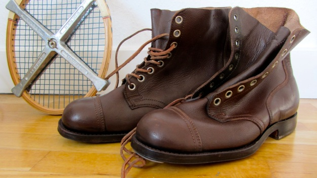 swedish boots from 1946 brown full view