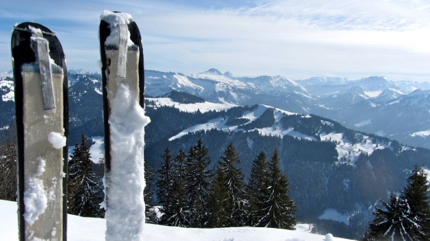 ski touring in the bregenzer wald summit