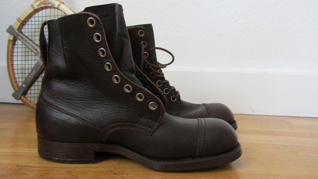 swedish army boots brown from 1943 unlaced