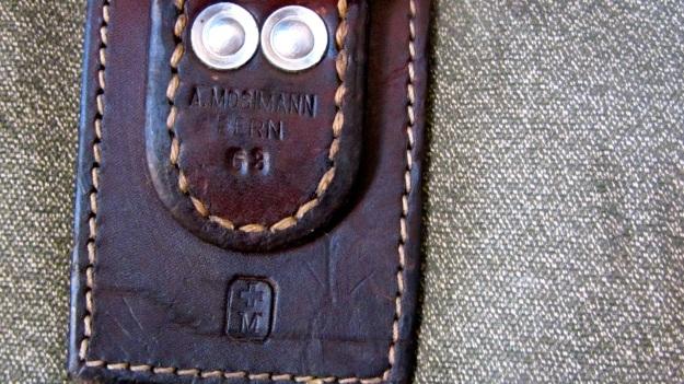 swiss army backpack salt and pepper small - saddler mark