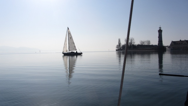 the old sailor - der ewige segler vom bodensee - lake of constace