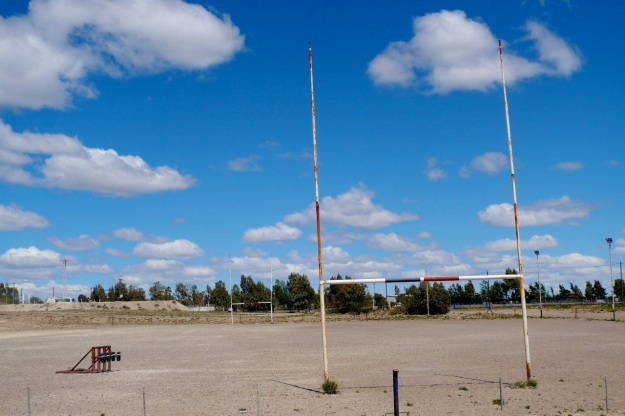 beautiful argentina - sandy rugby pitch argentina