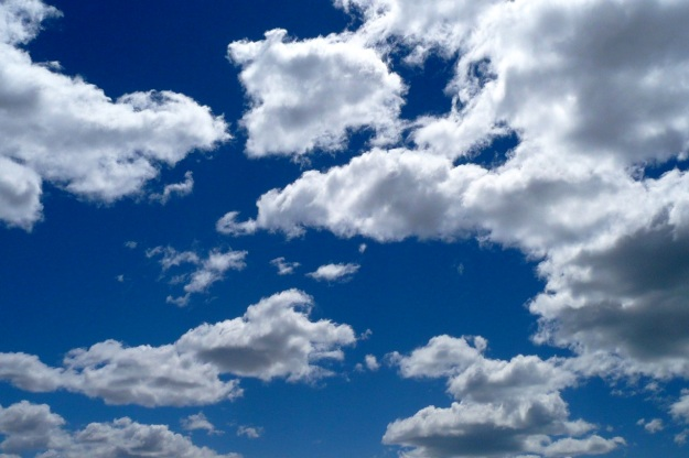beautiful argentina - the blue sky with clouds