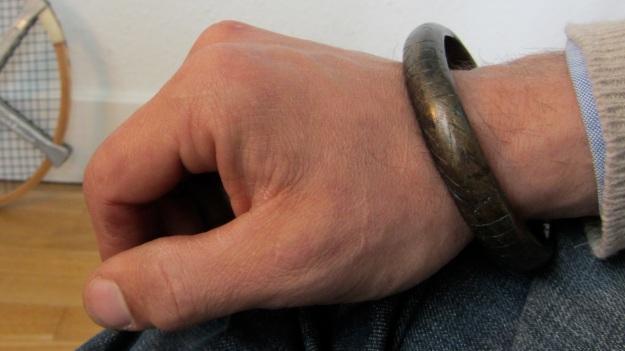 Bronze Celtic warrior armlet by feinschmuck - worn