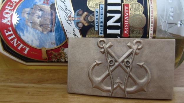 feinschmuck anchor belt buckle - anker gürtelschnalle