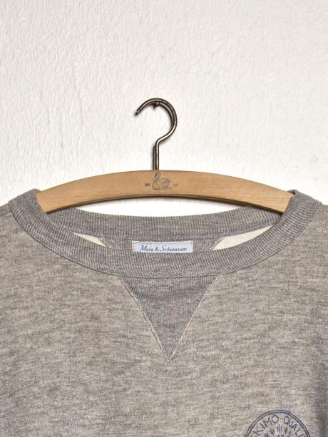merz b. schwanen sweater 343 Eskimo fleece printed - detail crew neck