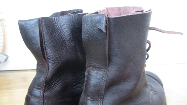 Swedish Army boots from 1943 after the resole - ripped