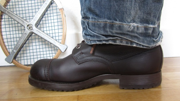 Swedish Army boots from 1943 after the resole - with levis engineered / twisted jeans
