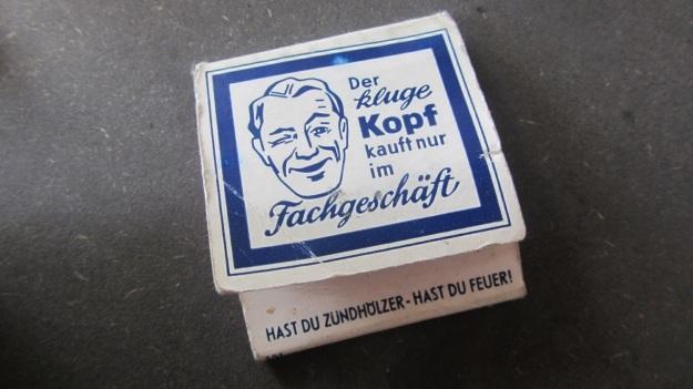 vintage matchsticks german - der kluge kopf kauft nur im fachgeschäft