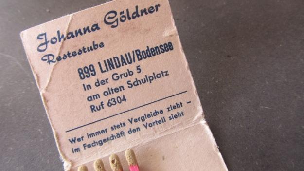 vintage matchsticks german - wer immer stets vergleiche zieht - im fachgeschäft den vorteil sieht