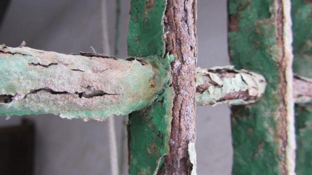 best of mallorca - rusted window gates