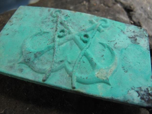 feinschmuck anchor belt patina in progress