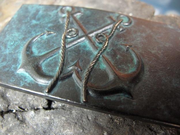 feinschmuck anchor belt patina in progress - nearly ready