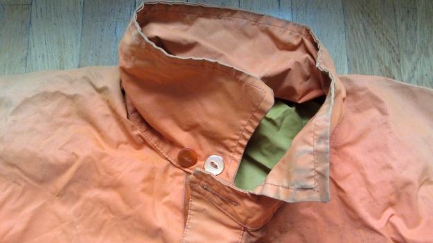 henri lloyd vintage sailing drysuit orange - neck